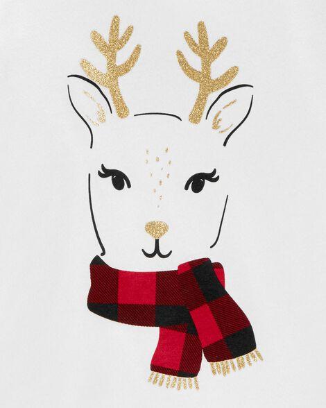 Glitter Reindeer Jersey Tee