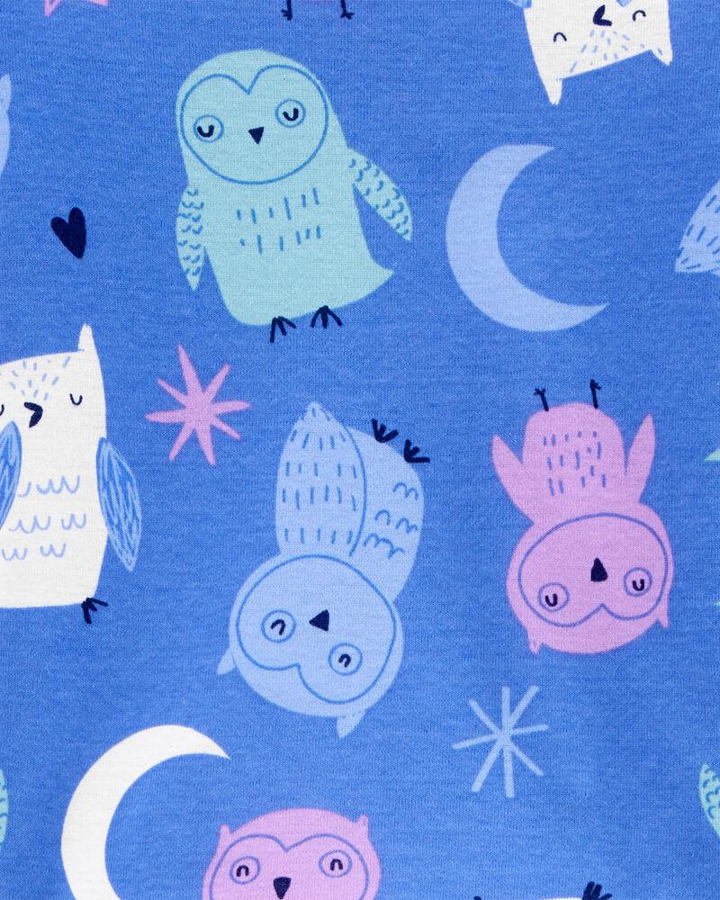 Pyjama 4 pièces en coton ajusté hibou, , hi-res