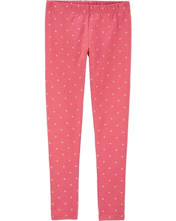 Polka Dot Jersey Leggings