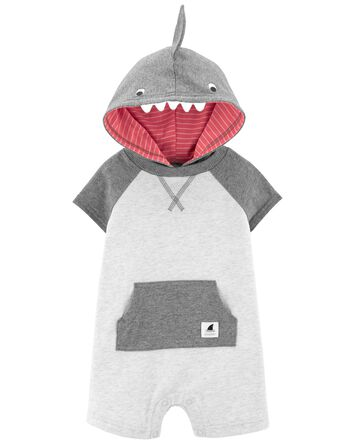 Hooded Shark Romper