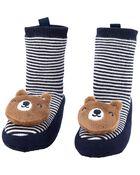 Pantoufles-chaussettes à cœur, , hi-res