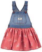 Floral Knit Denim Jumper, , hi-res
