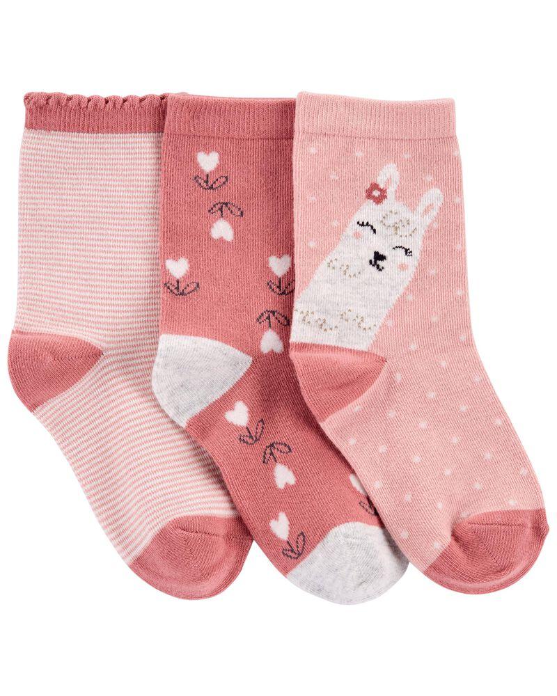 3-Pack Llama Socks, , hi-res