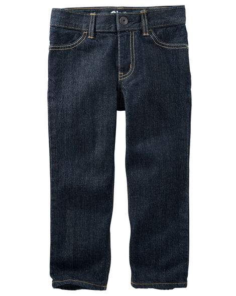 Jeans droit - délavage foncé rivière
