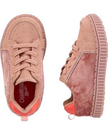 Pink Corduroy Sneakers