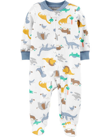 Dinosaurs 2-Way Zip Cotton Sleep &...
