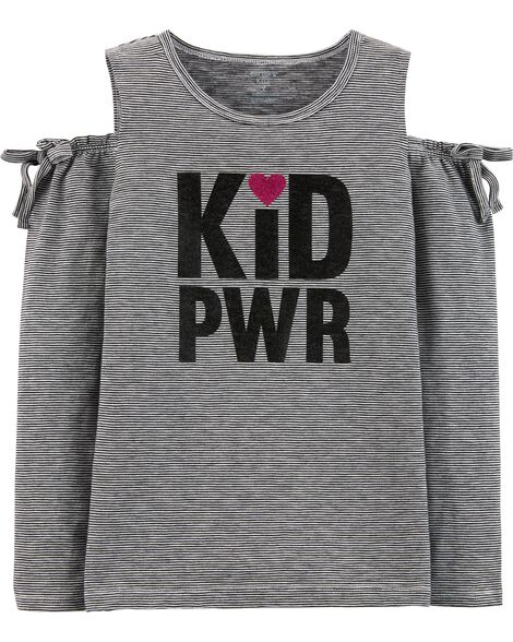 Kid Power Cold Shoulder Top