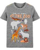 T-shirt en jersey chiné avec animaux, , hi-res