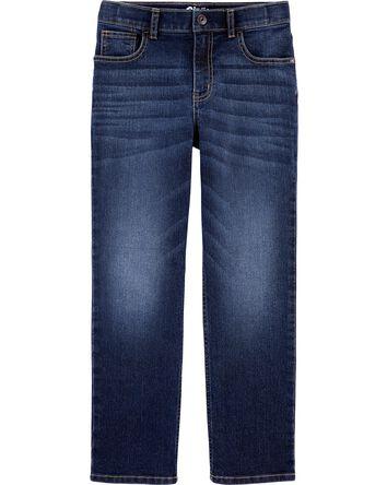 Jeans classique - délavage bleu vér...
