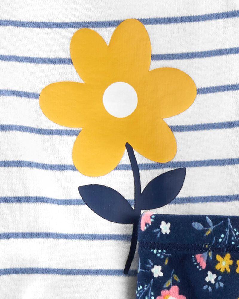 Ensemble 3 pièces Little Character fleuri, , hi-res