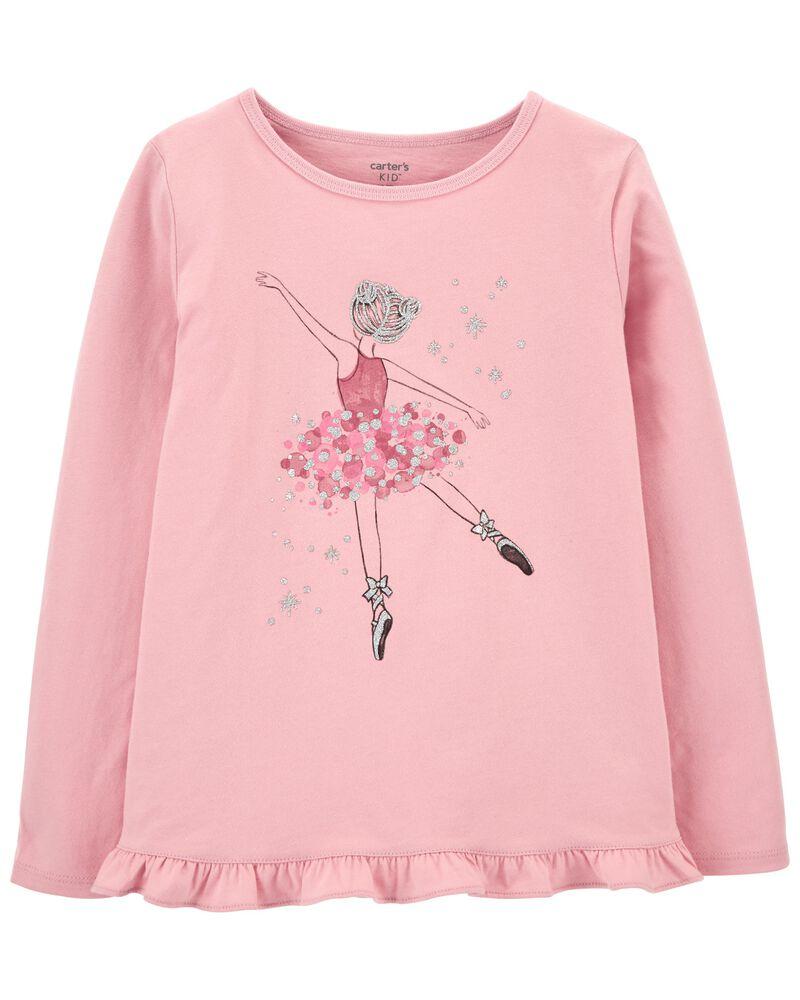 T-shirt en jersey à ballerine, , hi-res