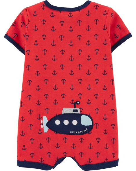 Anchor Snap-Up Romper