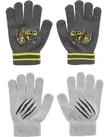 Emballage de 2 paires de gants dino...