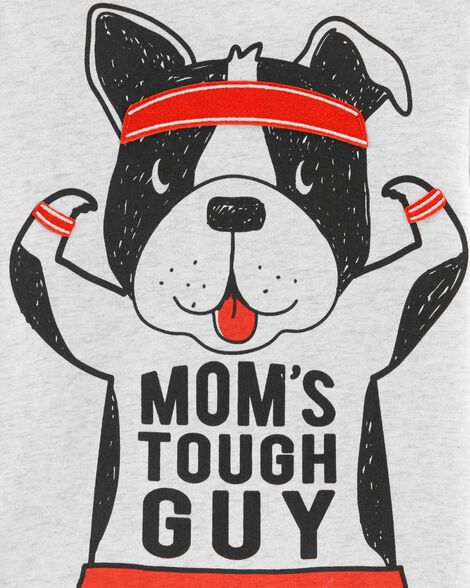 Mom's Tough Guy Dog Jersey Tee