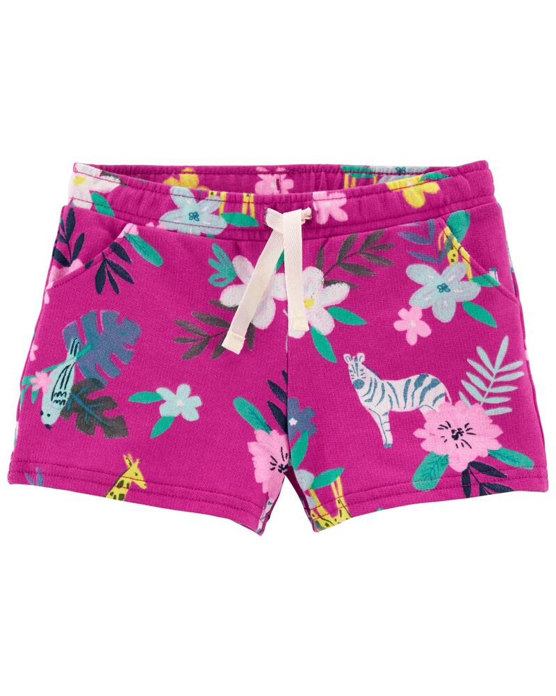 Floral Pull-On French Terry Shorts, , hi-res