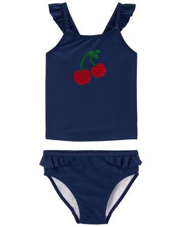 Cherry Ruffle Tankini