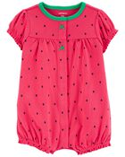 Strawberry Snap-Front Romper, , hi-res