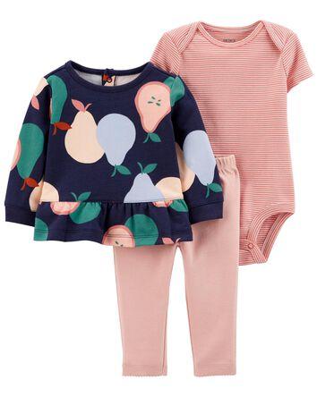 3-Piece Pear Cardigan Set
