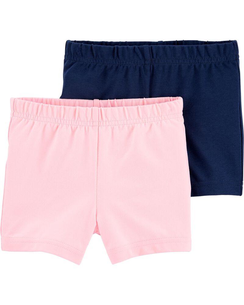 Emballage de 2 shorts extensibles, , hi-res