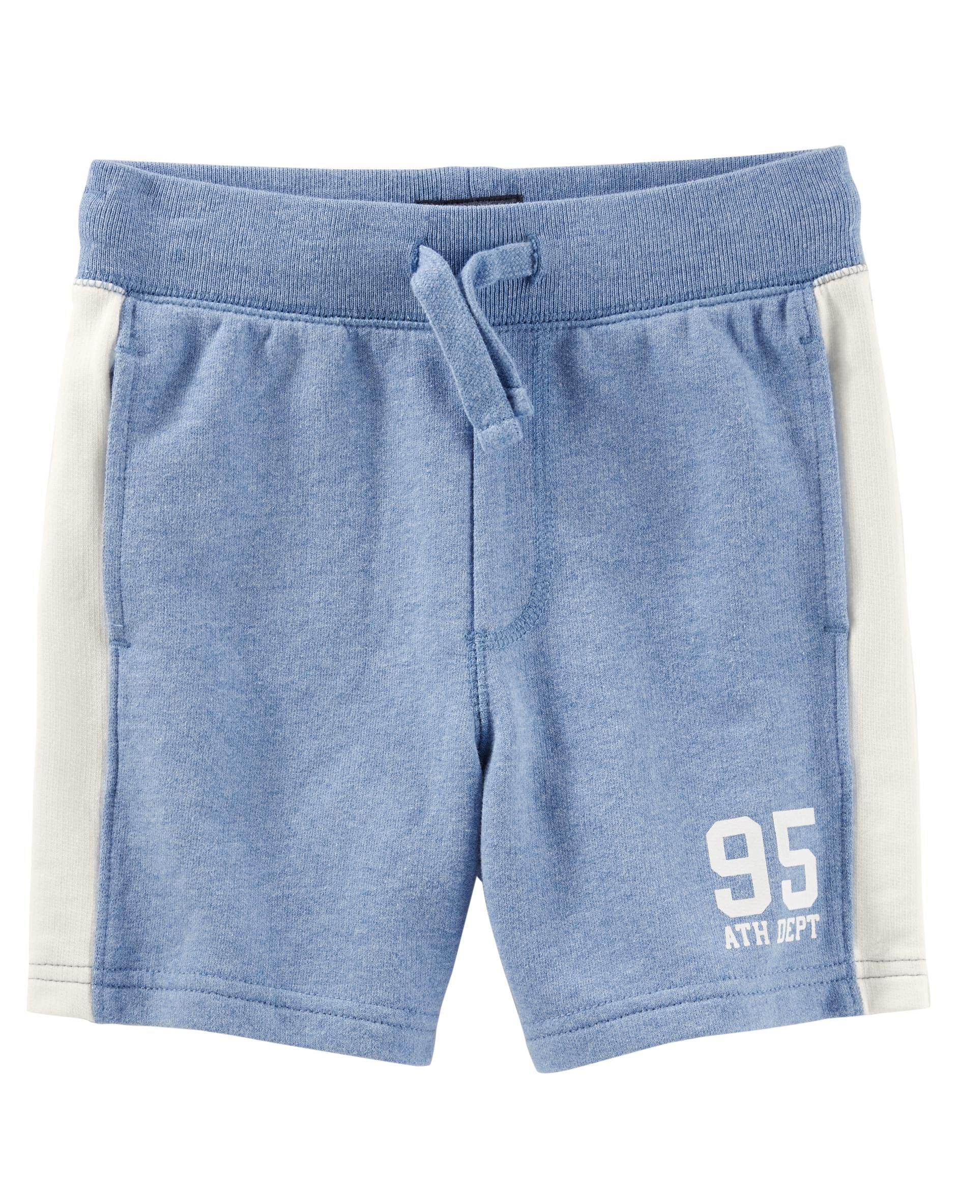 Carters Baby Girl French Terry Shorts-Teal