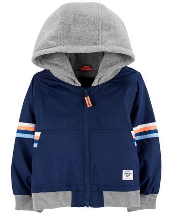 Hooded Fleece-Lined Bomber Jacket