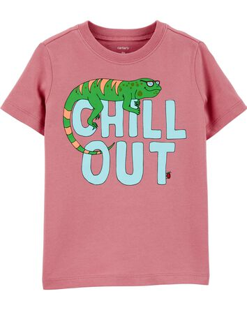 T-shirt en jersey Chill Out Iguana