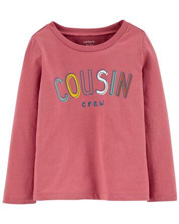 T-shirt en jersey à slogan Cousin C...
