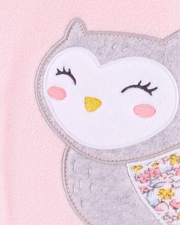 1-Piece Owl Fleece Footie PJs