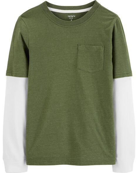 T-shirt du tonnerre de style superposé