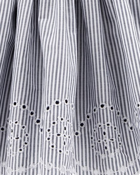 Striped Eyelet Dress