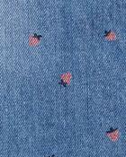 Strawberry Print Ruffle Shortalls, , hi-res