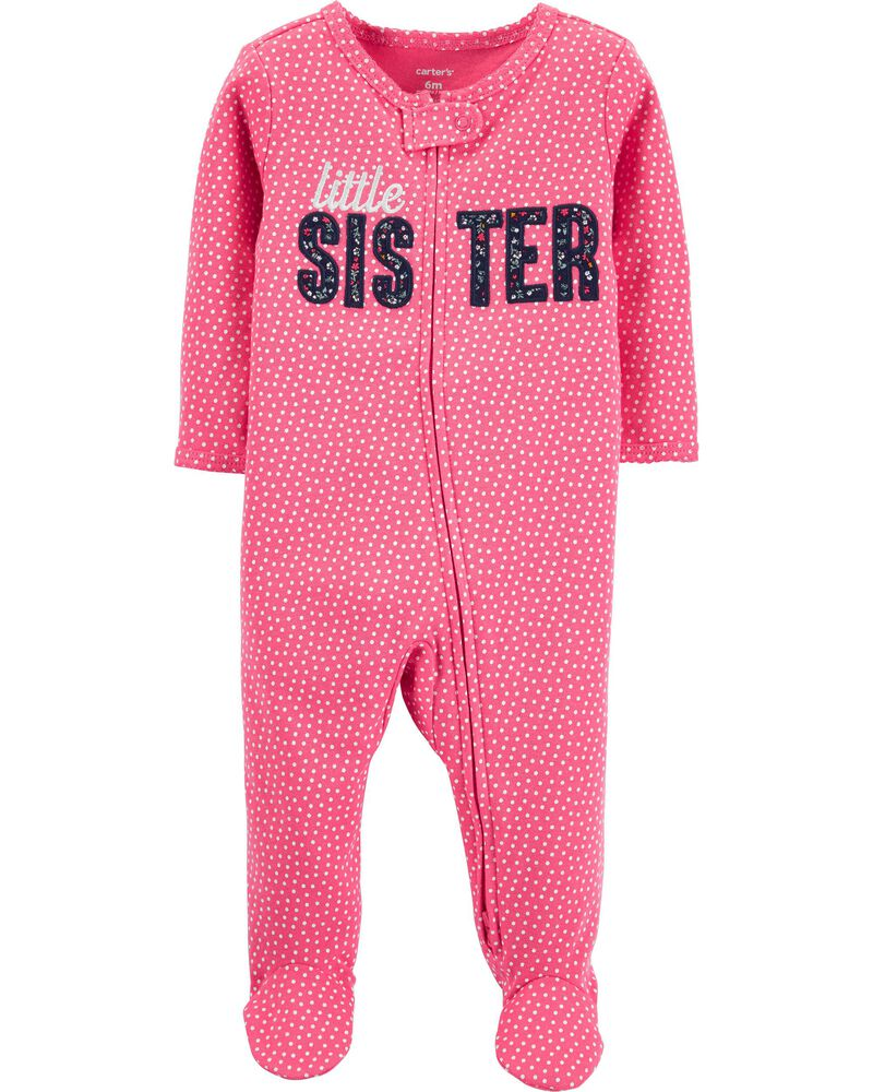 Little Sister 2-Way Zip Cotton Sleep & Play, , hi-res