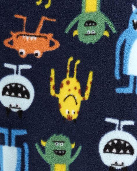 1-Piece Monster Fleece Footie PJs