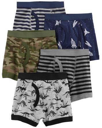 5-Pack Cotton Boxer Briefs
