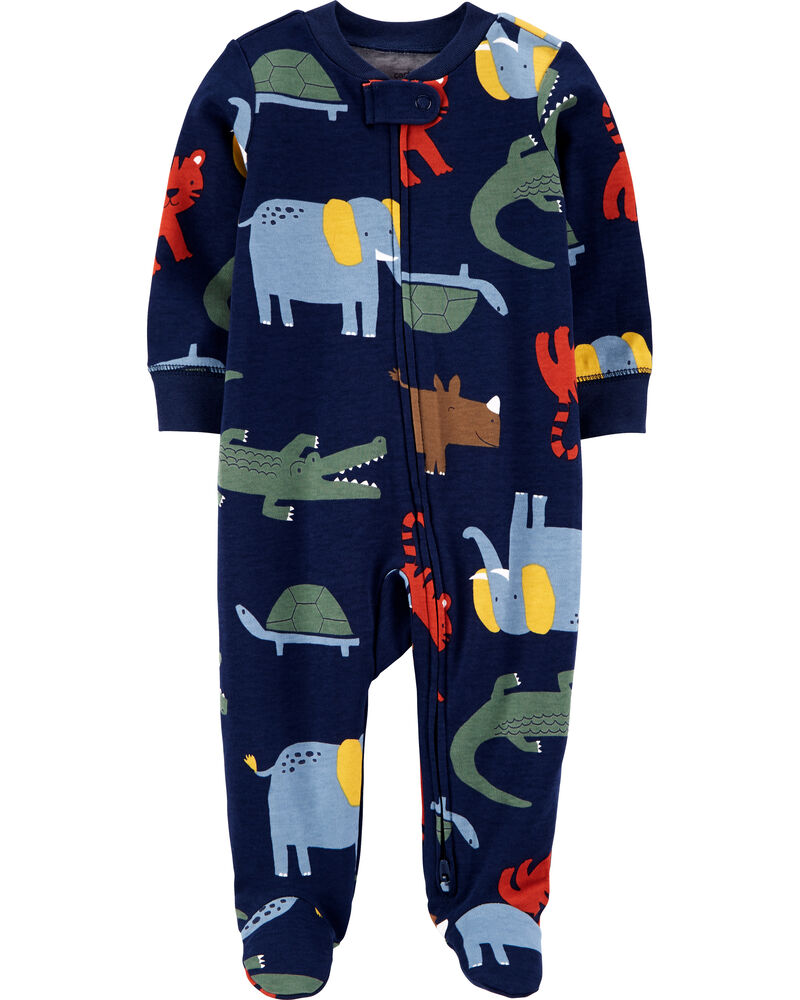 Animal 2-Way Zip Cotton Sleep & Play, , hi-res
