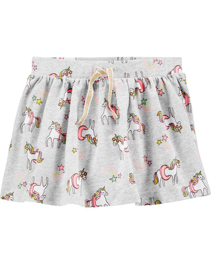 Jupe-short à licorne, , hi-res