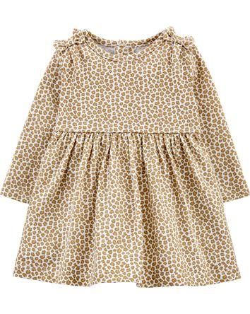Robe en jersey à imprimé de léopard