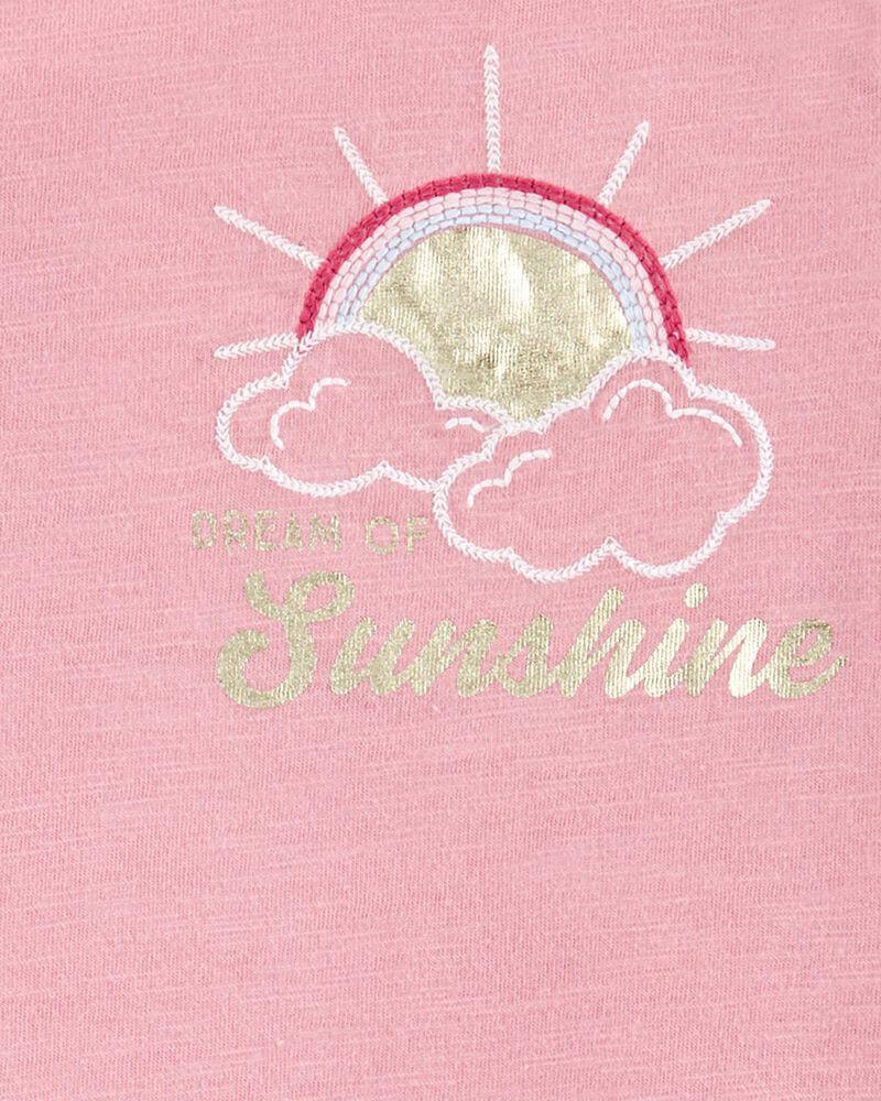 T-shirt brodé à soleil, , hi-res