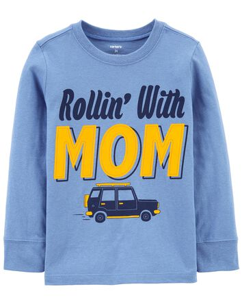 Rollin' With Mom Jersey Tee