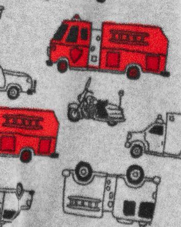 1-Piece Firetruck Fleece Footie PJs