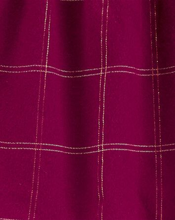 2-Piece Plaid Flannel Top & Jegging...