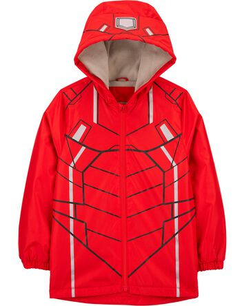Fleece-Lined Robot Rain Jacket