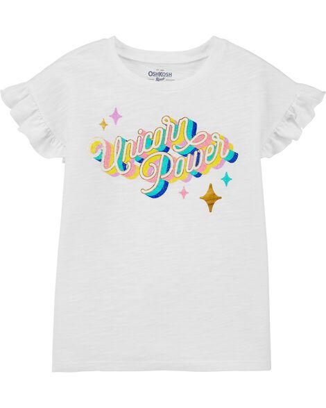 T-shirt à manches volantées Unicorn Power