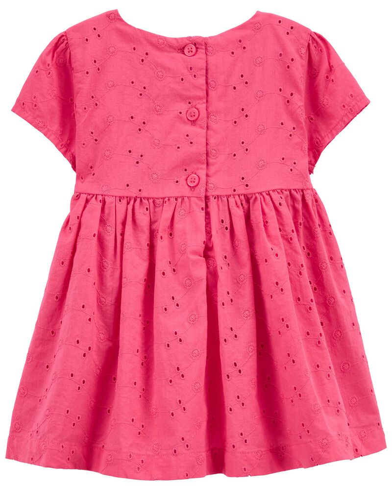 Eyelet Bow Dress, , hi-res