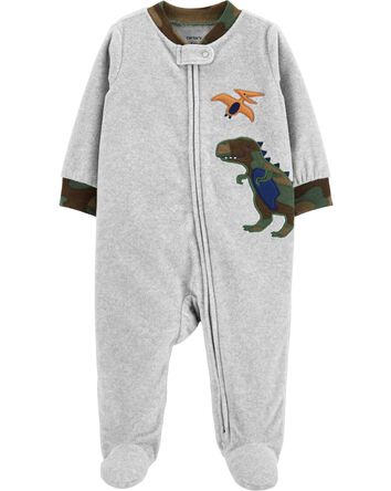 Dinosaur Zip-Up Fleece Sleep & Play