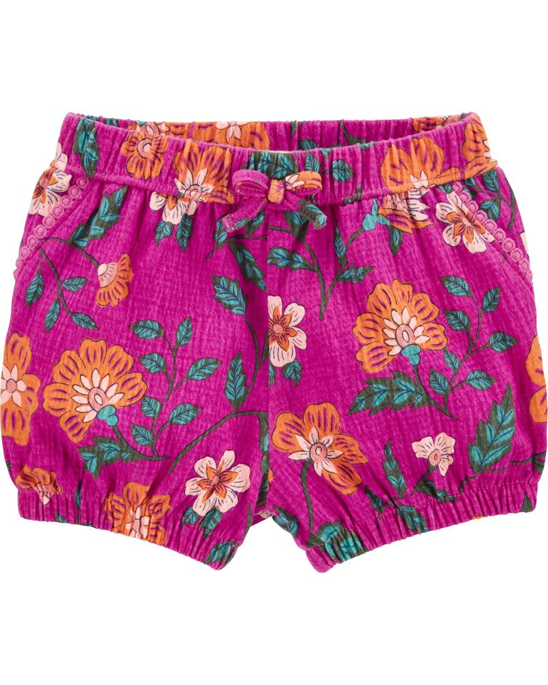 Floral Crinkle Jersey Bubble Shorts, , hi-res