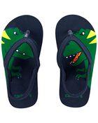 Dinosaur Flip Flops, , hi-res