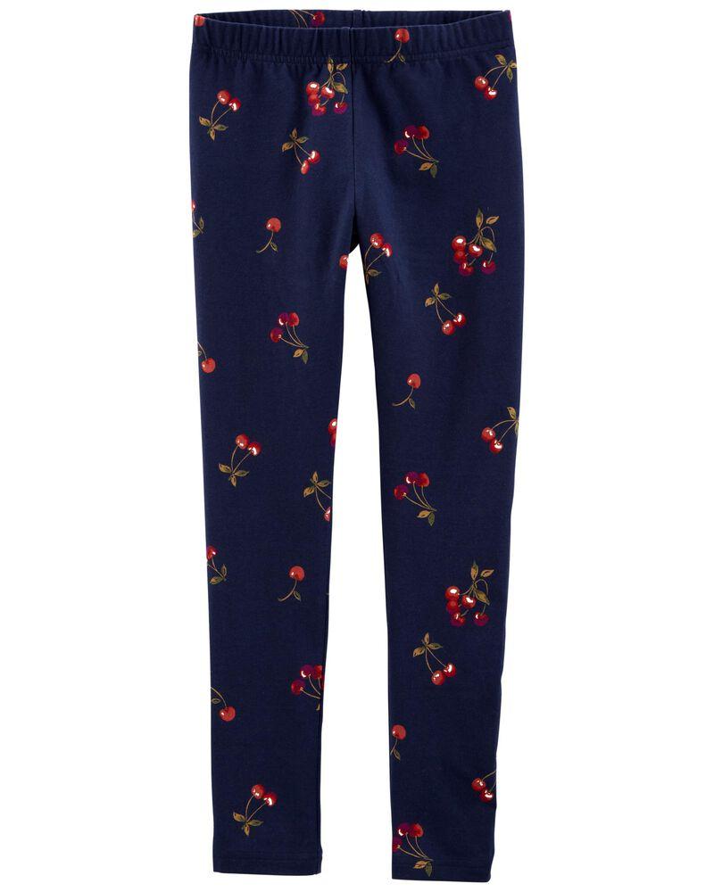 Cherry Print Leggings, , hi-res