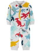 Dinosaur Zip-Up Footless Sleep & Play, , hi-res