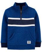 Mock Neck Logo Fleece Pullover, , hi-res